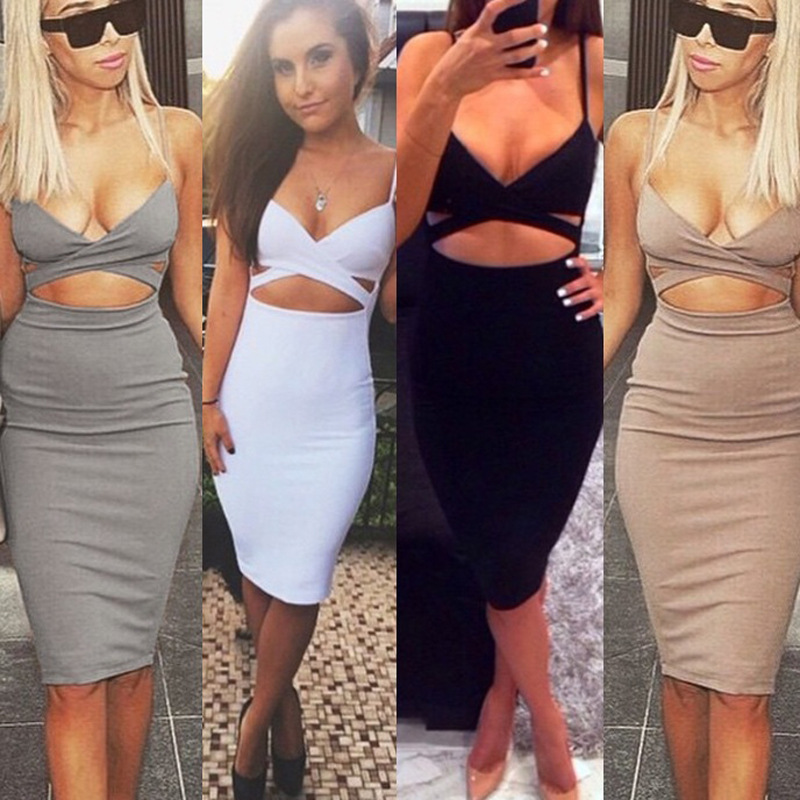 2019 2016 Sleeveless Sexy Bandage Package Hip Dresses Woman