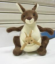 廠家批發供應母子袋鼠毛絨玩具.動物玩具袋鼠公仔 禮品定制LOGO