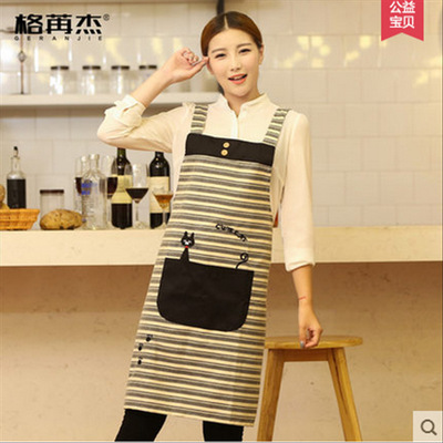 Chef overalls Apron female adult cute kitchen mother baby water custom logo kindergarten work clothes cool cat