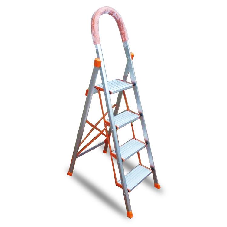 厂家供应折叠家用梯 铝合金人字梯 踏板梯 家用梯子