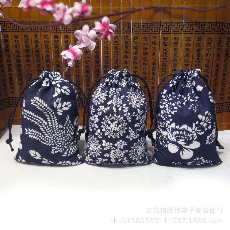 12*17 Jewelry Box Bag cloth bag suction port of Tsing chintz