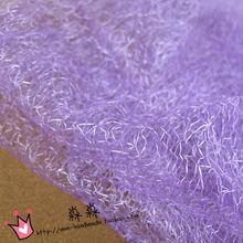 淺紫色亂網眼布網紗 滌綸亂網扎染經編可做工藝品婚紗禮服亂網