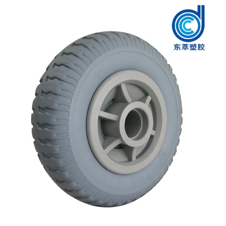 工业PU脚轮 手推车PU发泡实心脚轮  工具车免充气轮胎轮子
