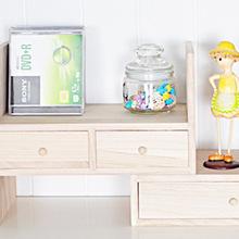 批发简约组合实木书架 桌面木质书架办公架 学生实木小书柜书架