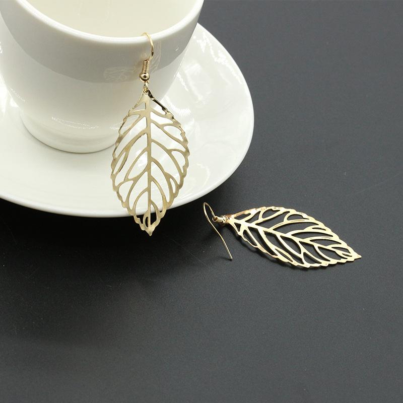 Fashion simple Mori metal leaf earrings new leaf earrings NHDP176217