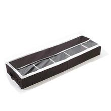 卡秀收纳竹炭视窗分格收纳鞋盒 靴盒 咖啡色高品质大号收纳箱批发