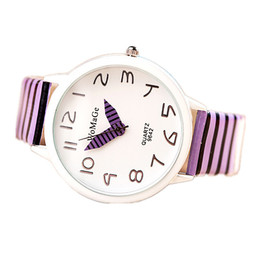 2015 new watch features striped multicolor belt quartz watch student Korean fashion watch