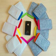 厂家供应 新款毛毡布手机包 创意手机保护套定做手机袋  可印logo