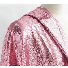 網布3MM珠片繡花面料 電腦亮片布料銀色舞臺婚紗服裝面料用布