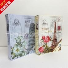 厂家直销 创意巴黎铁塔纪念相册 4R2袋200张带记事纸6寸新款相册
