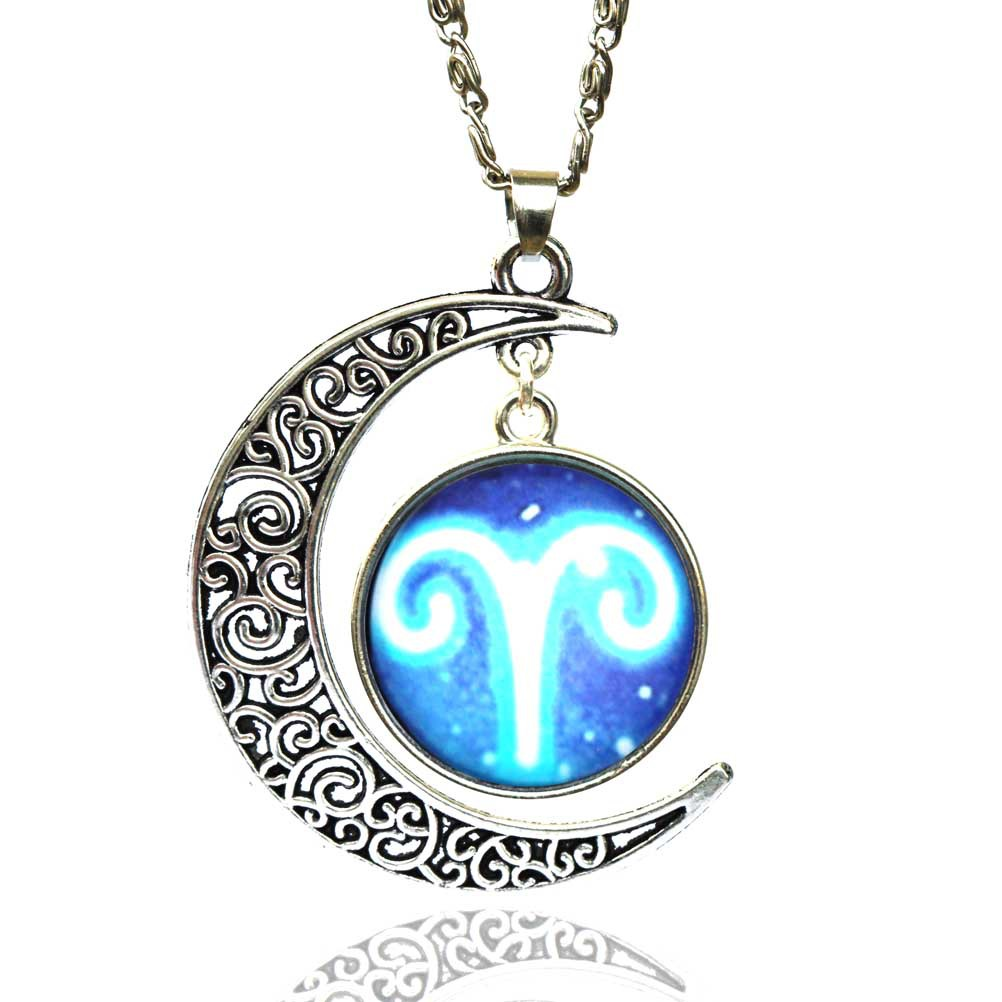 ... how to buy ASTROLOGY ZODIAC MOON NECKLACE Jewelry Gift Idea Star Sign  ... d999b1a6bd ... 1c2434e58a5e