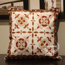 【四叶草红】 时尚抱枕 客厅沙发靠枕靠垫 办公室腰枕 汽车靠垫