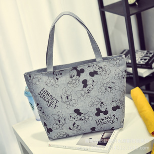 Factory wholesale women's bags, fashion casual canvas bags, printed large cloth bags, shopping bags, and shoulder bags.