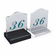 深圳厂家定制五星级质量透明亚克力台桌号牌有机玻璃留座餐厅面牌