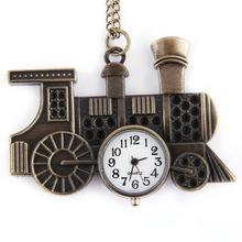 外贸复古独特石英怀表 个性复古古铜色老爷车造型挂饰怀表  6112