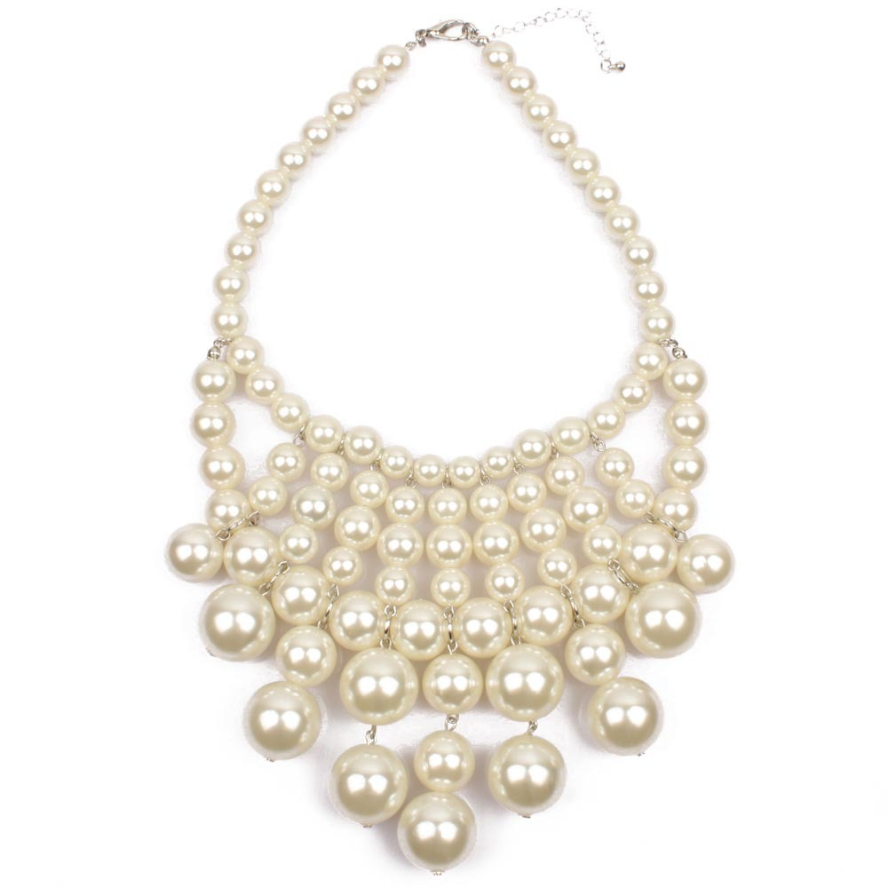 Occident and the United States pearlnecklace (creamy-white)NHCT0046-creamy-white