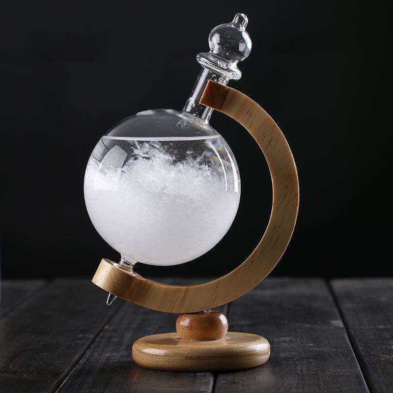 创意玻璃工艺品摆件礼品地球仪旋转天气预报瓶风暴瓶diy家居饰品