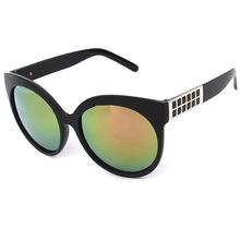 太阳眼镜新款时尚圆形蛤蟆镜炫彩个性墨镜2105男女士大框太阳镜