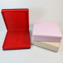 高檔絨布套裝盒 珍珠盒首飾盒19*19珠寶包裝盒 批發現貨