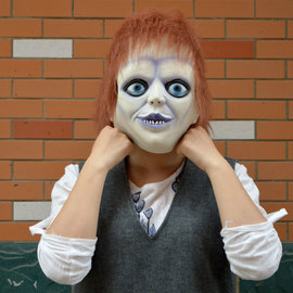 Ghost baby comeback movie props Cha chihuahua latex mask Halloween mask dance horror ghost headgear