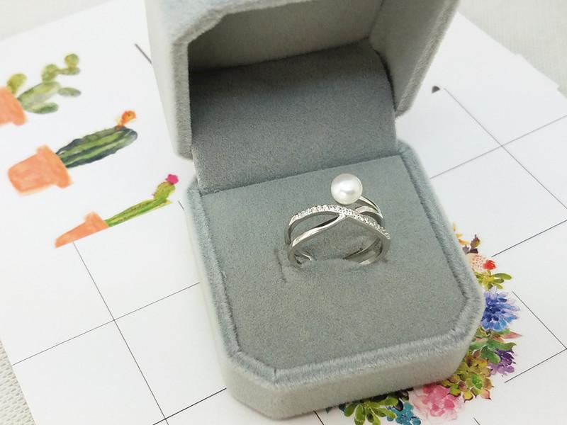 Silver Korea Geometric Ring(Empty tray) NHDY0114-Empty tray