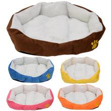 爆款羊羔绒爪印单面狗窝小号冬季保暖宠物窝小型犬宠物狗垫可拆洗