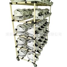 厂家生产 头盔放置架 精益管物料架 仓储货架 线棒周转车 可定制