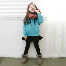 秋冬装儿童加绒加厚卫衣韩版外贸女童保暖打底衫厂家批发一件代发