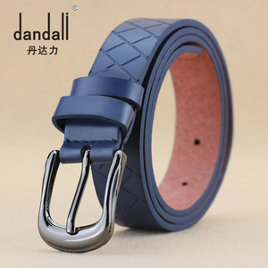 New Korean women belt buckle belt fashion leather belt factory wholesale cowboy Dan Dudley