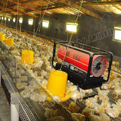 重庆50KW鸡仔保温育雏加温转群取暖燃油热风机养殖场取暖器