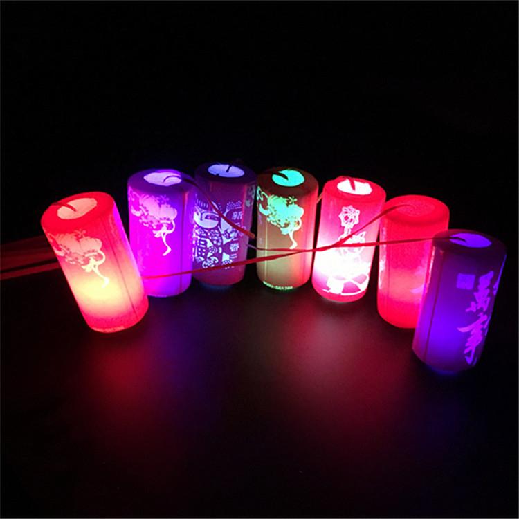 厂家新年发光灯笼 七彩变色发光玩具 儿童手提灯笼地摊玩具批发