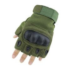 新款户外战术户外运动骑行半指手套 健身防滑防护耐磨手套 A4男