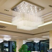 方形豪华别墅客厅灯后现代简约水晶工程灯水晶吊灯厂家批发促销价
