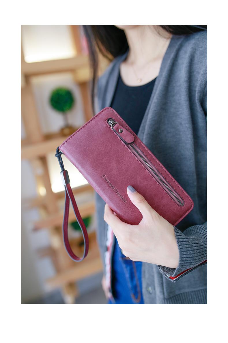 Retro long ladies multi-function wallet NHNI148459