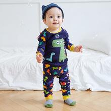 vaenait 原创设计秋冬韩版儿童套装家居服长袖童装中小童纯棉睡衣