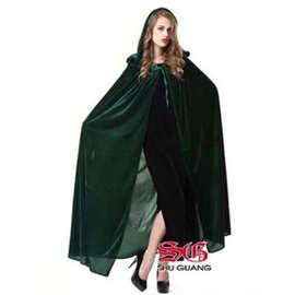 万圣节披风cosplay化妆舞会表演服装巫婆斗篷女巫披风巫师服饰