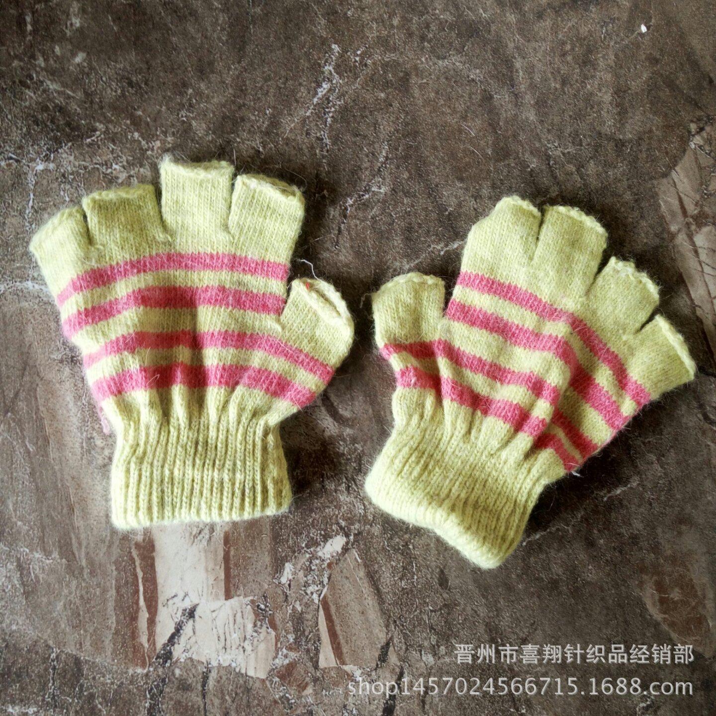 低价爆款秋冬儿童露指手套半指手套赠品库存手套批发清仓处理甩卖