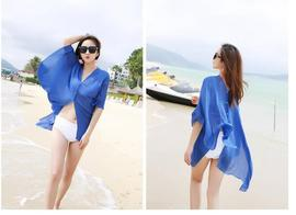 Explosion Models Long Section of Female Long Sleeve Sun Protection Clothing Loose L Beach Air Conditioning Protective Clothing Thin Chiffon Coat
