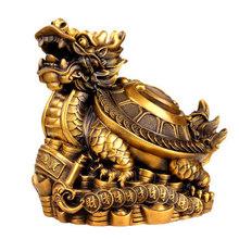 金钱福字铜龙龟摆件八卦龙头龟母子龙龟家居工艺装饰品