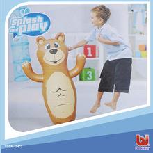 原装正品Bestway狗熊不倒翁儿童充气玩具拳击袋12895沙底3D益智