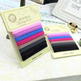 Stylish high elastic hair ornaments without seams, hair rope, rubber band, hair, rubber band