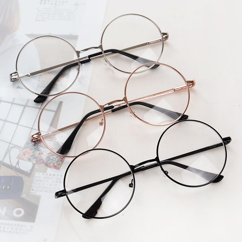 哈利波特复古圆形眼镜框 原宿男女款镜架 平光镜太子镜潮 配近视