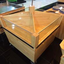 新款热销实木水果展示架促销台 定制优质实木超市货架促销台批发