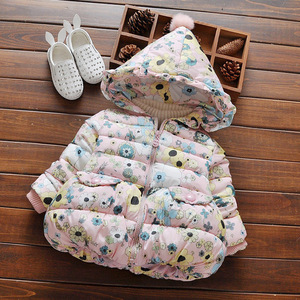 The new 0-3 year old girls winter cotton padded cotton padded jacket with thickened baby's tide one generation