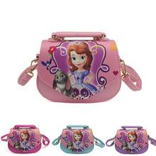经销批发2016新款儿童包 小公主索菲亚斜跨小方包两用手提包热批