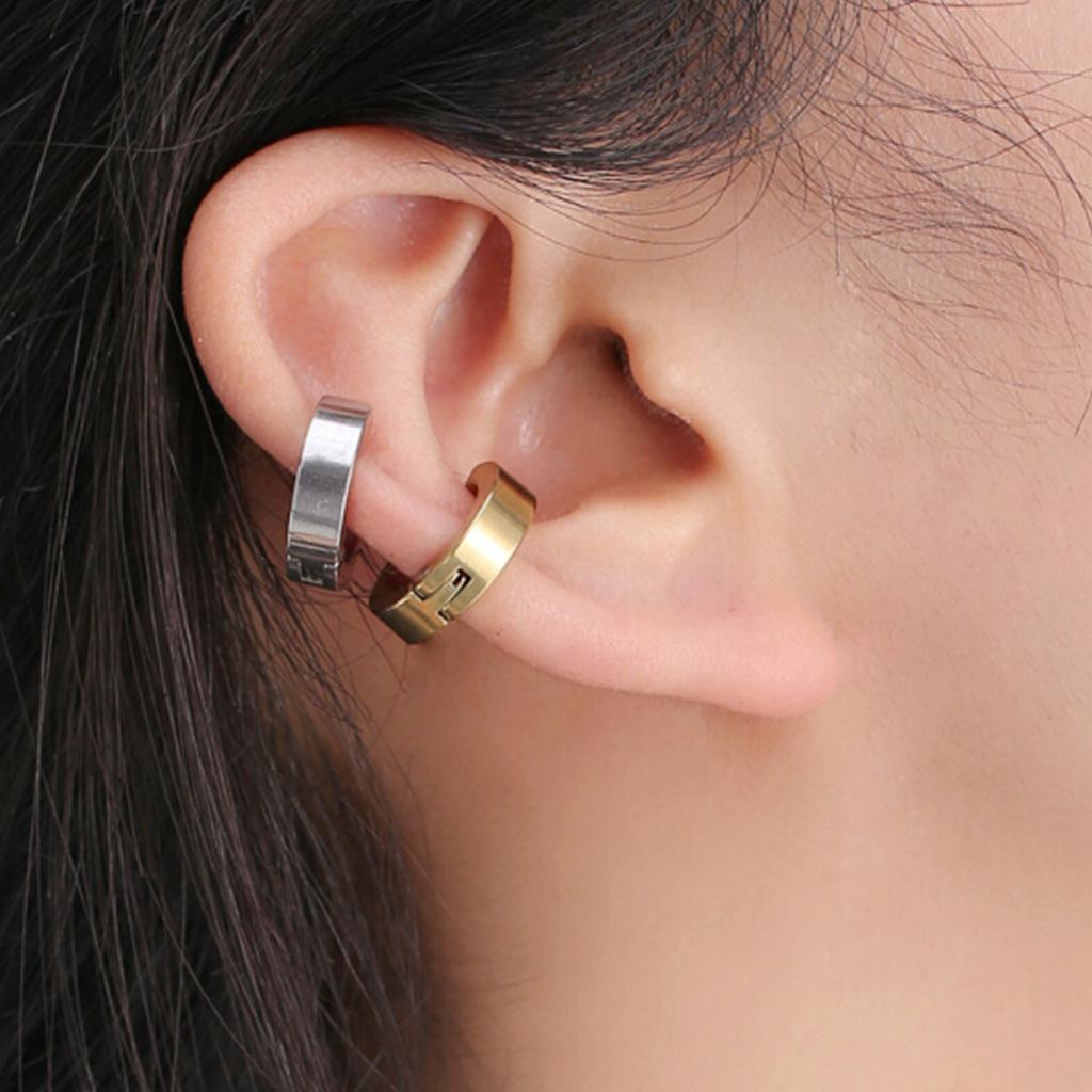 韩版时尚钛钢耳夹 男女士无耳洞耳骨夹耳扣 男女士耳环批发