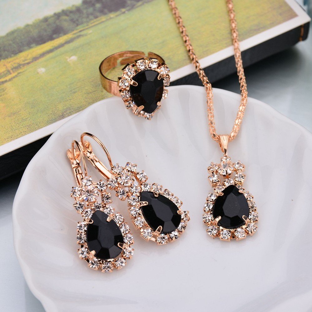 Womens Inlaid Imitated crystal Alloy Jewelry Sets NHBQ129296