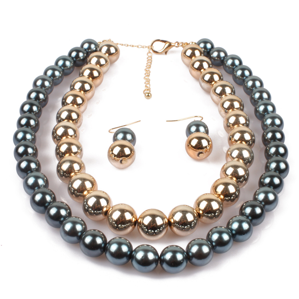 Occident and the United States pearlnecklace (gray)NHCT0036-gray