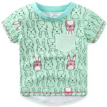 新款风格2019童装jumpingbaby夏季棉童t恤 短袖女童T恤
