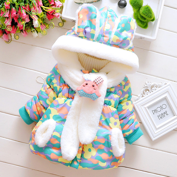 Hot Born Infant Baby Girls Autum Outerwear Hooded Cappa Coat Warm
